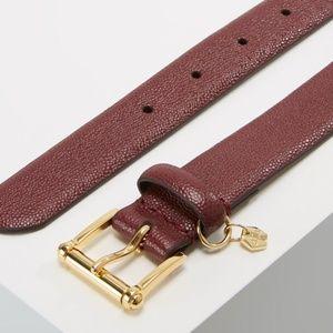 Lauren Ralph Lauren Womens Belt Merlot